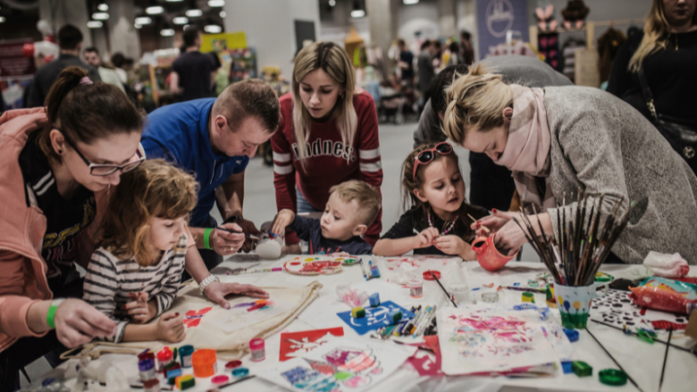 Targi to również kreatywne warsztaty dla dzieci i rodziców (fot. mat. organizatora)