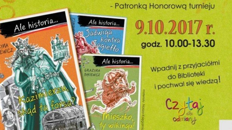 """Turniej czytelniczy na temat książek z serii """"Ale historia..."""" odbędzie się 9 października (fot. mat. organizatora)"""