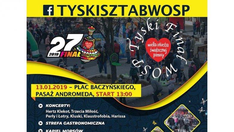 27. Finał WOŚP odbędzie się 13 stycznia na Placu Baczyńskiego w Tychach (fot. mat. organizatora)