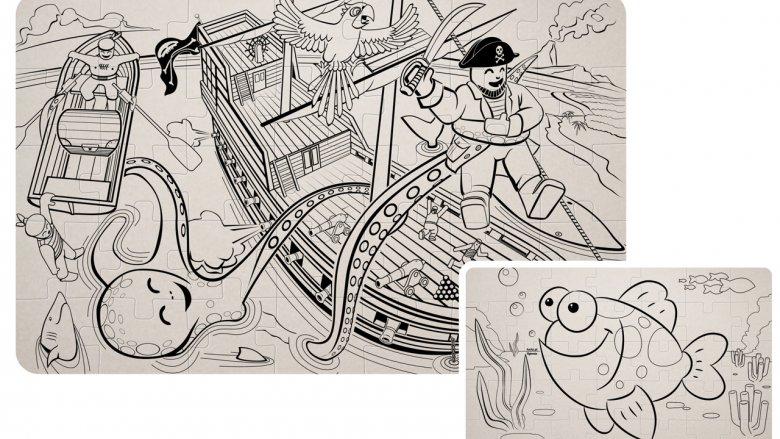 W asortymencie firmy HOCKO są również tekturowe puzzle do pokolorowania (fot. materiały HOCKO)
