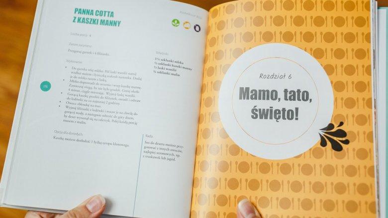 W książce nie zabrakło też dań, które pozwolą zdrowo świętować przy stole nawet maluszkom (fot. Ewelina Zielińska)