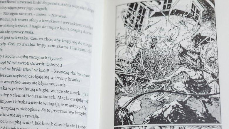 Dobry papier, świetnie rozplanowany tekst i komiksowe ilustracje zachęcają do obcowania z lekturą (fot. Ewelina Zielińska)