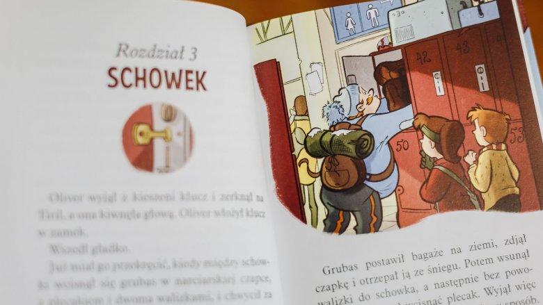 Kolorowe ilustracje i krótkie rozdziały są idealne dla samodzielnych czytelniów (fot. Ewelina Zielińska)
