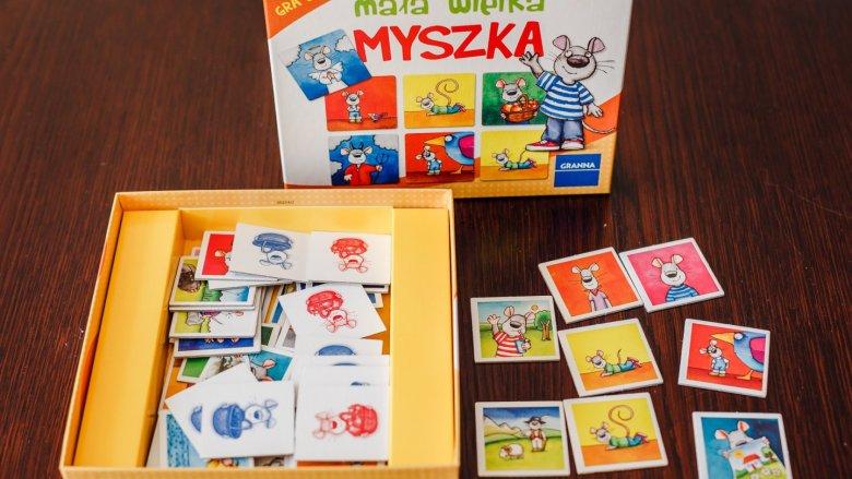 """""""Mała wielka mysz"""" to gra, w która pozwoli zrozumieć czym są przeciwieństwa (fot. Ewelina Zielińska)"""