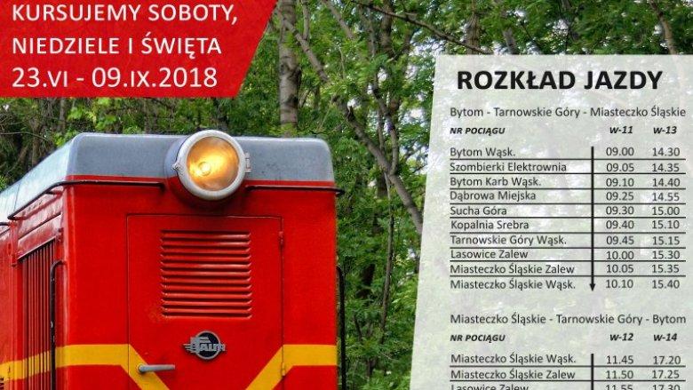 Górnośląska Kolej Wąskotorowa kursuje w weekendy i święta do 9 września (fot. mat. organizatora)
