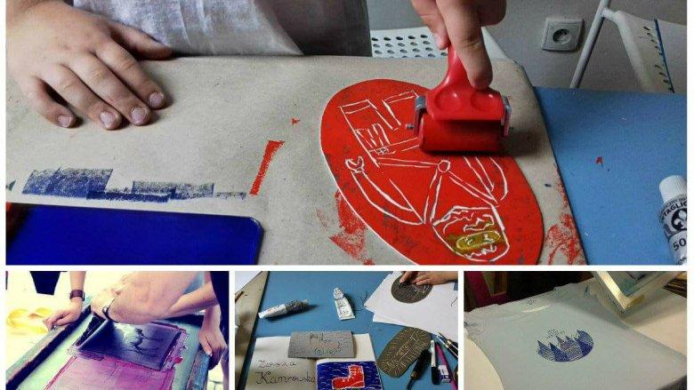 Poznawanie tradycyjnych technik graficznych to dla dzieci niezwykłe doświadczenie i świetna zabawa w jednym (fot. Gryfne Granie)