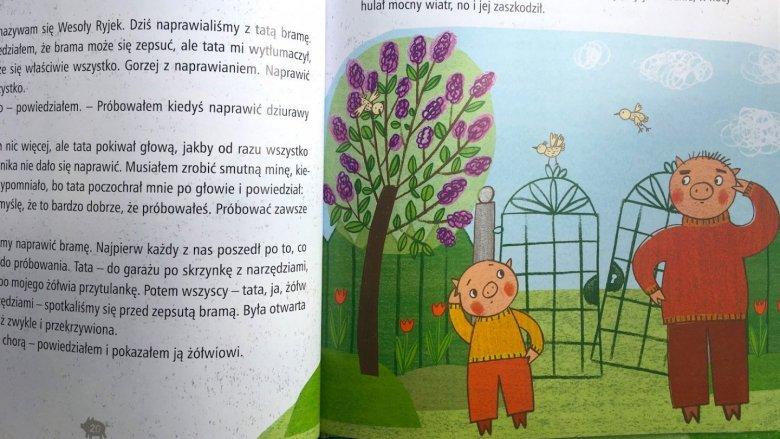 Ryjek bardzo wiele przygód przeżywa z tatą (fot. Ewelina Zielińska/SilesiaDzieci.pl)