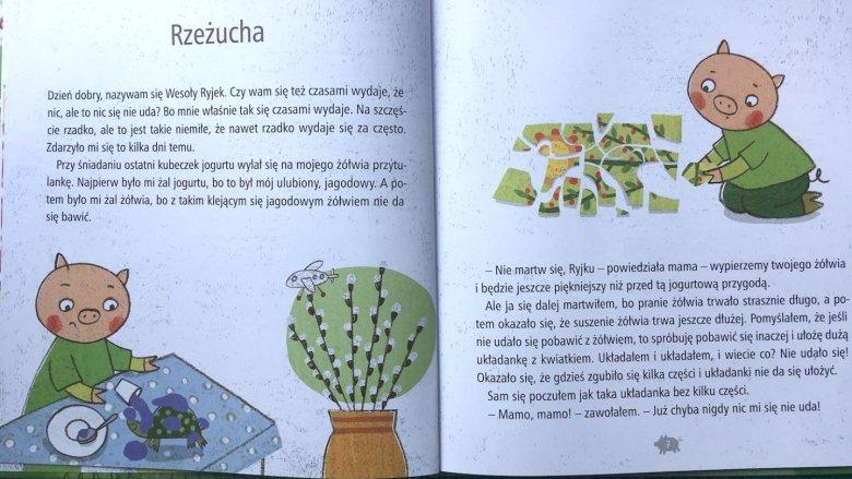 W książce przedstawione są codzienne smutki i radości małego bohatera (fot. Ewelina Zielińska/SilesiaDzieci.pl)