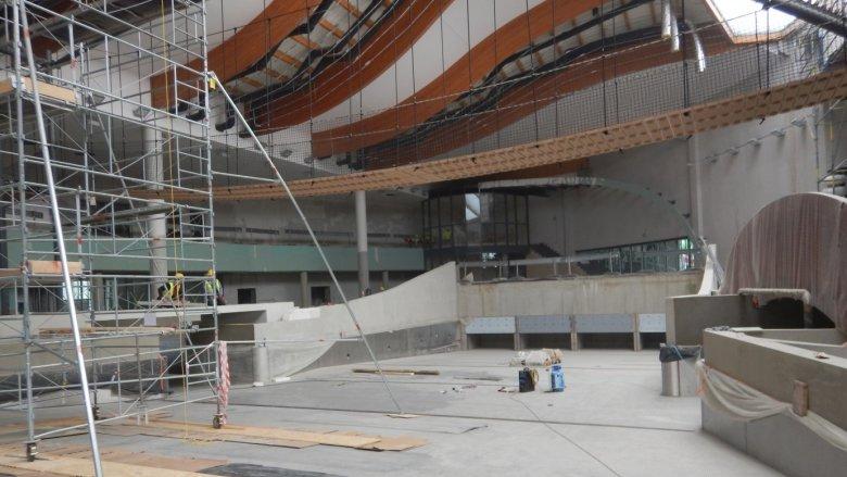 Trwają prace budowlane poszczególnych stref rekreacyjnych Wodnego Parku Tychy (fot. mat. Parku)
