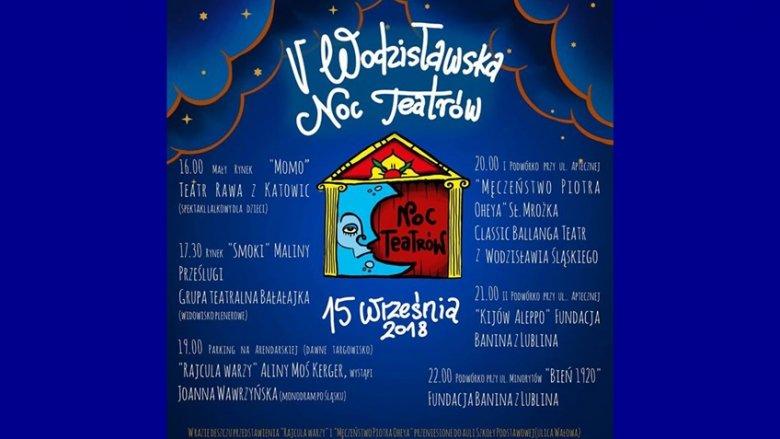Podczas Wodzisławskiej Nocy Teatrów odbędzie wiele spektakli dla młodszych i starszych widzów (fot. mat. organizatora)