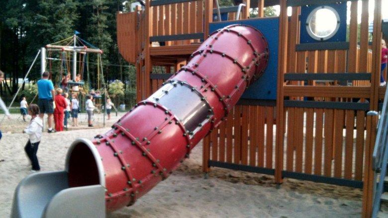 Jedna ze zjeżdżalni. Plac zabaw Paprocany (fot. alex)