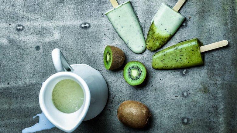 Zielony sorbet jest idealnym deserem na upalne dni (fot. mat. Pracowni SMAKU)