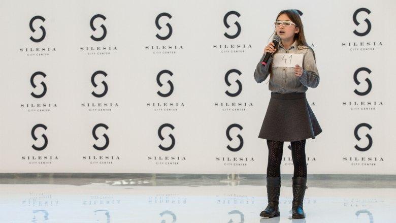 """Zwyciężczyni konkursu """"Silesia Kids"""" 11-letnia Aleksandra Płóciennik z Poręby (fot. mat. organizatora)"""