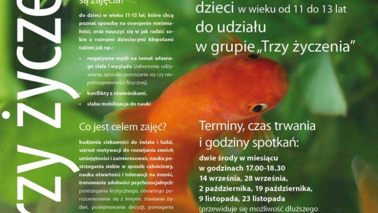 """""""Trzy życzenia"""" to zajęcia skierowane do dzieci w wieku 11-13 lat (fot. mat. organizatora)"""