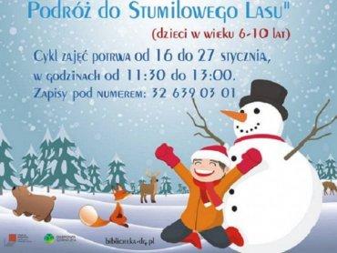 Wśród zajęć dla dzieci w Miejskiej Bibliotece Publicznej w Dąbrowie Górniczej znajdą się wyprawy do Stumilowego Lasu (fot. mat. organizatora)
