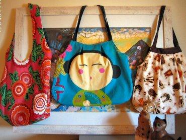Kolorowe torby zakupowe wykonają mamy w Pracowni Maminka (fot. foter.com)