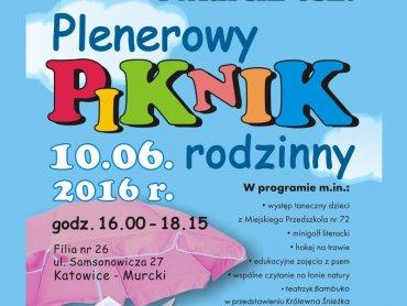 Piknik Rodzinny w Murckach organizowany jest z okazji Ogólnopolskiego Tygodnia Czytania Dzieciom (fot. mat. organizatora)