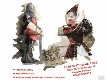 """""""Rycerze i damy dworu"""" to hasło pod jakim odbędzie się niedzielny festyn biblioteczny w Filii nr 28 (fot. mat. organizatora)"""