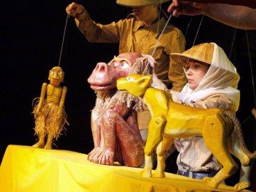 """""""Takie sobie bajeczki"""" to zabawne hisotrie o zwierzętach (fot. mat. Teatr Gry i Ludzie)"""