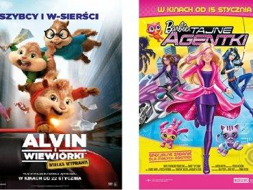 """Mamy dla Was bilety na """"Alvin i wiewiórki: Wielka wyprawa"""" oraz """"Barbie: Tajne Agentki"""" (fot. mat. Planet Cinema)"""
