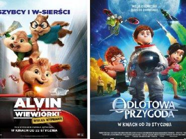 """Mamy dla Was bilety na """"Alvin i wiewiórki:Wielka wyprawa"""" oraz """"Odlotowa przygoda"""" (fot. mat. Planet Cinema)"""