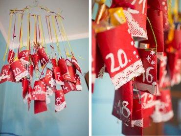 Do wykonania i uzupełnienia kalendarza wystarczy wyobraźnia i rzeczy znalezione w domu (fot. Ewelina Zielińska)