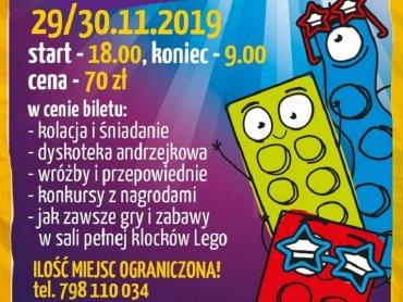 Andrzejki w 1000 Klocków to zabawa w sali pełnej klocków LEGO (fot. mat. organizatora)