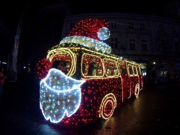 Świąteczny autobus stanął na Placu Stulecia w Sosnowcu