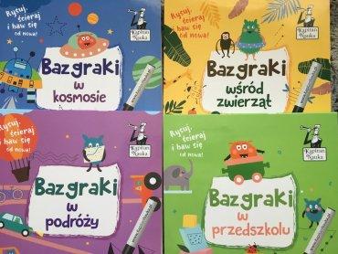 """""""Bazgraki"""" to seria książeczek dla dzieci w wieku 3-6 lat, które idealnie sprawdzą się np. w podróży (fot. Ewelina Zielińska/SilesiaDzieci.pl)"""