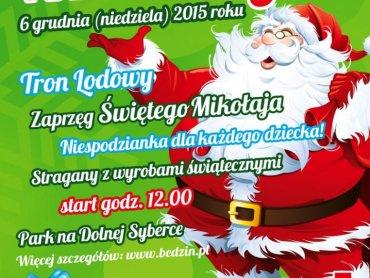 Będzińskie Mikołajki rozpoczną sie o 12 w parku na Dolnej Syberce (fot. mat. organizatora)