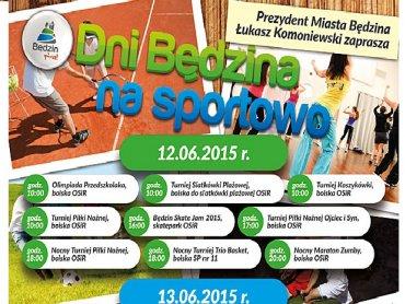 Najbliższy weekend w Będzinie to mnóstwo sportowej rywalizacji dla całej rodziny (fot. mat. organizatora)