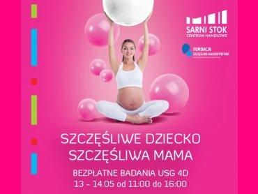 Bezpłatne badania USG, konsultacje z ekspertami nt. ciąży, porodu i macierzyństwa czekają na przyszłe mamy w Sarnim Stoku (fot. mat. organizatora)