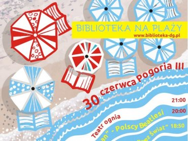 """""""Biblioteka na plaży"""" to impreza, która odbędzie się 30 czerwca na plaży nad Pogorią III (fot. mat. organizatora)"""