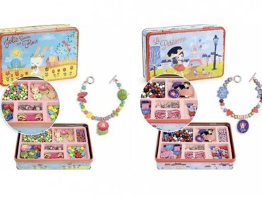 Biżuteria do własnoręcznego wykonania przeznaczona jest dla dziewczynek w wieku od 4 lut 8 lat (fot. mat. sklep.PlacFrancuski.pl)