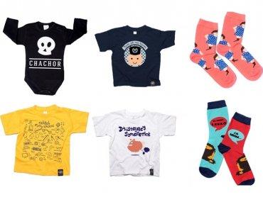 W naszym konkursie można wygrać dziecięce T-shirty i skarpetki śląskiej firmy Qdizajn