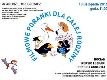 Dziecięcy Salonik Filmowy odwiedzi tym razem doktor Andrzej Kruszewicz (fot. mat. organizatora)
