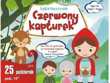 """Bajka muzyczna """"Czerwony Kapturek"""" to propozycja Teatru Wit-Wit (fot. mat. organizatora)"""