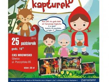 """""""Czerwony Kapturek"""" to spektakl muzyczny Teatru Wit-Wit (fot.mat. organizatora)"""