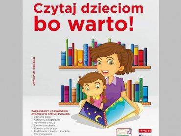 """""""Czytaj dzieciom, bo warto"""" to ogólnopolska akcja, która dotarła do 13 miast Polski (fot. mat. organizatora)"""