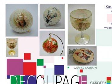 Za pomocą techniki decoupage można stworzyć oryginalne prezenty i ozdoby świąteczne (fot. materiały prasowe)