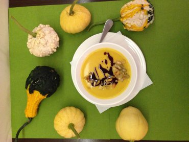 """Krem z dyni jest pożywny, smaczny i łatwy w przygotowaniu (fot. materiały """"Krystynki"""")"""