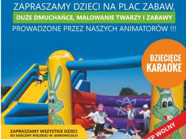 Karczma Wiejska w Jankowicach zaprasza dzieci na zabawę z okazji Dnia Dziecka (fot. mat. organizatora)