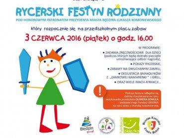 Rycerski festyn to okazja do rodzinnej zabawy i pomocy choremu Oliwierowi (fot. mat. organizatora)