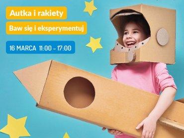 Kreatywne warsztaty, na których dzieci poznają zasady działania silników odrzutowych i same stworzą rakiety, odbędą sie 16 kwietnia w Gliwicach (fot. mat. organizatora)