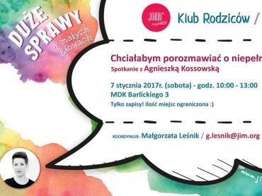 Spotkanie będzie okazją do porozmawiania o niepełnosprawności (fot. mat. organizatora)