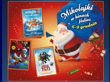 W kinie Helios, przez 3 dni będzie można spotkać się z Mikołajem i obejrzeć specjalne seanse (fot. mat. organizatora)