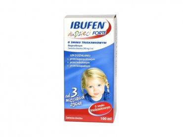 Ibufen dla dzieci FORTE to popularny lek przeciwzapalny i przeciwgorączkowy (fot. mat. prasowe)