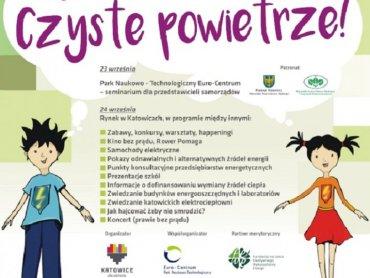 """Hasłem II Dni Energii Miasta Katowice będzie """"Misja: Czyste powietrze"""" (fot. mat. organizatora)"""
