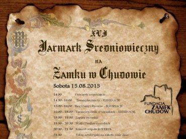 Jarmark średniowieczny to dwudniowa impreza organizowana w Chudowie (fot. mat. organizatora)