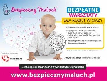 """Akcja """"Bezpieczny maluch"""" ma na celu edukację rodziców z zakresu pierwszej pomocy i prawidowego przewożenia dziecka w samochodzie (fot. mat. organizatora)"""
